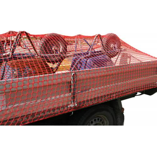 Aanhangwagennet, rood, 250x450cm