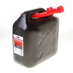 Kelfort Jerrycan zwart voor benzine/water schenktuit 10 liter