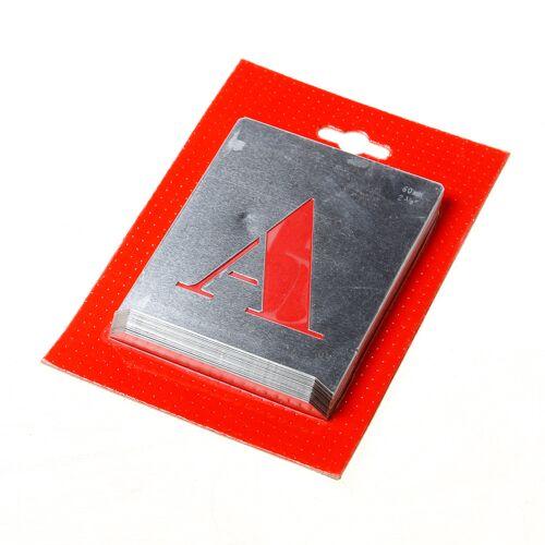 Sjabloon letters A t/m Z -  60mm