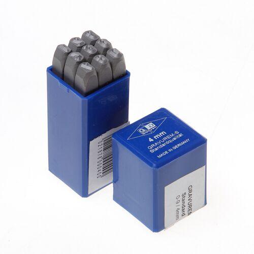 Slagcijferset 0-9 / 9-delig / 4mm