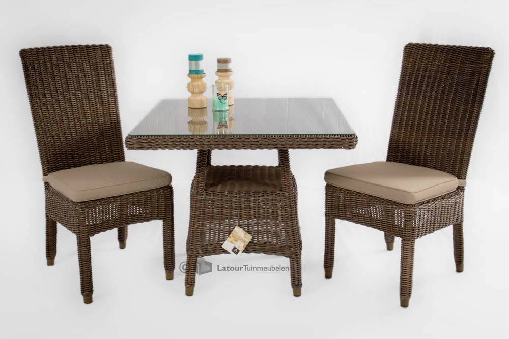 Image of 4 Seasons Outdoor 2 x Wales side chair + wales tafel Leaf