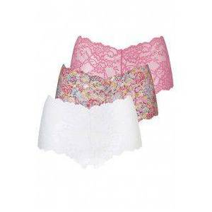 Ten Cate Lace Hipster 3 Pack Pink-XS-Flower