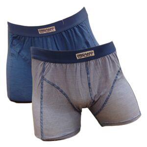 GS Sport 2-pack Heren Dunne Streep Blauw/Wit