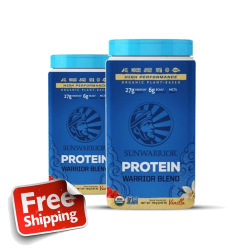 SunWarrior blend Proteine eiwitten vanille 750 gram