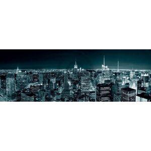 PGM Shutterstock - Manhatten Skyline at Night Kunstdruk 95x33cm