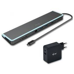 I-tec USB-C Metal Low Profile 4K Display Docking Station with Power Delivery 60 W + Universal