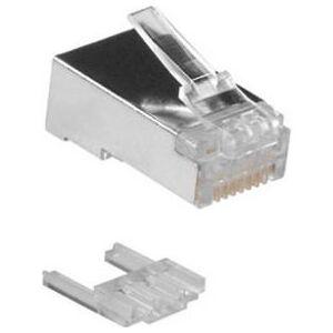 Intronics Shielded CAT6 RJ-45 connector voor kabel met soepele en massieve aders in zakje 25 stuks