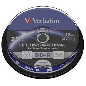 Verbatim 1x10 Verbatim M-Disc BD-R BluRay 25GB 4x Speed Cakebox printable