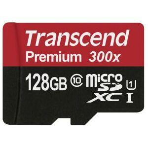 Transcend microSDXC 128GB Class 10 UHS-I 300x SD Adapter