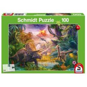 Schmidt Spiele The Valley of the Dinosaurs. 100 pcs