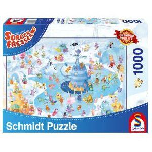 Schmidt Spiele Zorgenvriendjes. Winterpret. 1000 pcs