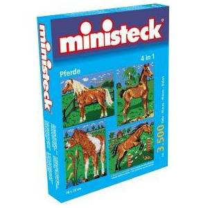 Ministeck 4 in 1 paardenpuzzel
