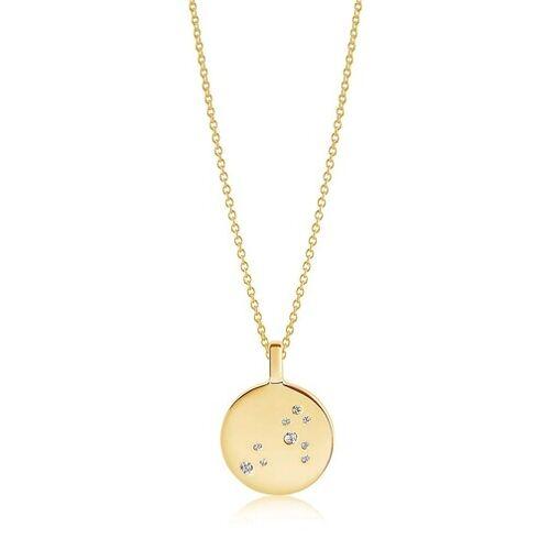 Sif Jakobs Jewellery Kettingen - Zodiaco Leo Pendant White Zirconia in goud