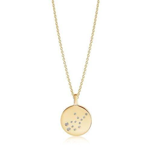 Sif Jakobs Jewellery Kettingen - Zodiaco Virgo Pendant White Zirconia in goud