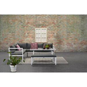 Van Kooten Tuin en Buitenleven Loungeset Garden Impressions Blakes 4-delig mat wit