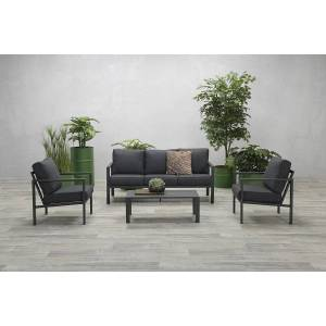 Van Kooten Tuin en Buitenleven Loungeset Garden Impressions Springs 4-delig carbon black