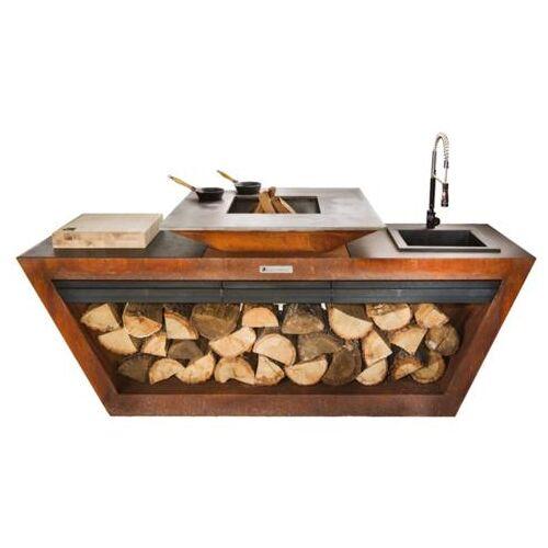 ART Quan Garden Art Rolling Kitchen complete buitenkeuken met spoelunit, 95x2400x100cm - Showmodel