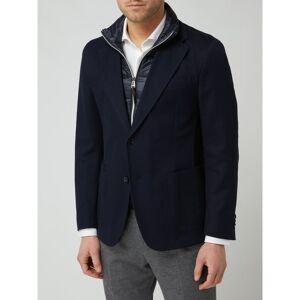 Windsor Shaped fit 2-knoops colbert met afneembare gestikte halsboord, model 'Triest'  - blue