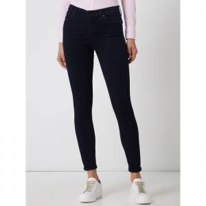 7 For All Mankind High waist skinny fit jeans met modal, model 'Slim Illusion Luxe'  - blue