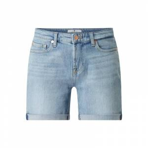 7 For All Mankind Korte jeans met stretch  - blue