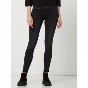 7 For All Mankind Skinny jeans met stretch  - black