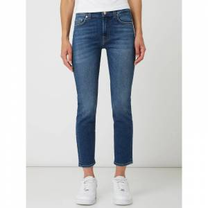 7 For All Mankind Slim fit jeans met stretch, model 'Roxanne'  - blue