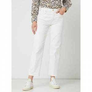 7 For All Mankind Straight fit jeans met stretch  - white