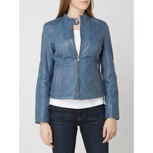 Jilani Leren jas in bikerlook  - blue