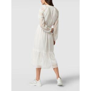 Lauren Ralph Lauren Midi-jurk met kantinzetten  - white