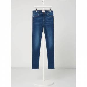 Only Skinny fit jeans met labelpatch  - blue
