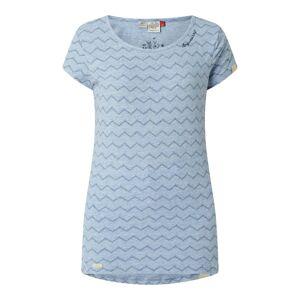 Ragwear T-shirt met zigzagmotief, model 'Mint Chevron'  - blue