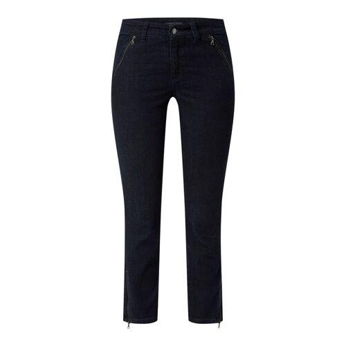 Cambio Slim fit jeans met ritssluitingen  - blue