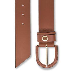 Tommy Hilfiger High Waist Oval Buckle Belt 4.5 Riem Bruin TOMMY HILFIGER