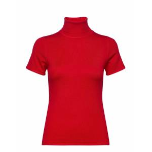 ANDIATA Pola Polo Neck T-shirts & Tops Knitted T-shirts/tops Rood ANDIATA