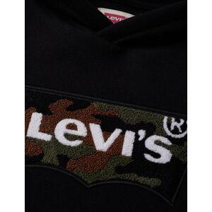 Levis Chenille Batwing Hoodie Hoodie Trui Zwart LEVI'S