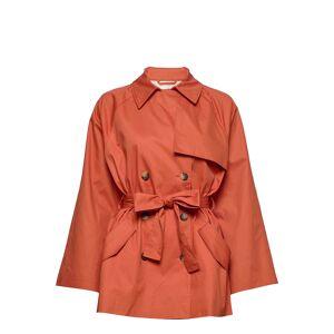 Soaked in Luxury Slchicago Short Trenchcoat Trenchcoat Lange Jas Oranje SOAKED IN LUXURY