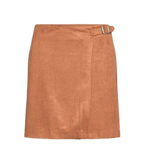 BANANA REPUBLIC Vegan Suede Wrap Mini Skirt Korte Rok BANANA REPUBLIC