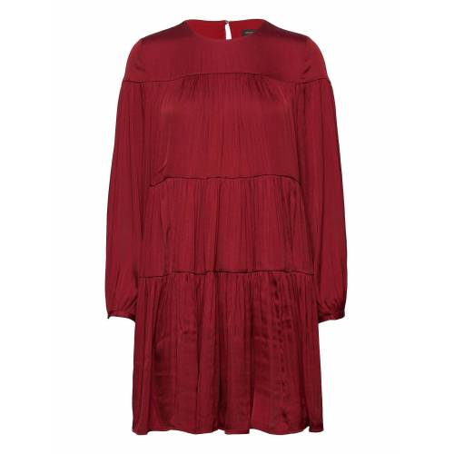 BANANA REPUBLIC Satin Tiered Mini Dress Korte Jurk Rood BANANA REPUBLIC