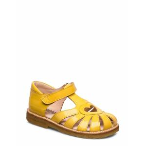 ANGULUS Sandal With Heart Detail Shoes Summer Shoes Sandals Geel ANGULUS