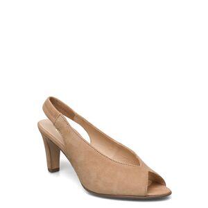 Gabor Sandals Shoes Heels Pumps Peeptoes Beige GABOR