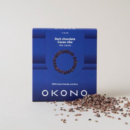 Okono Pure Chocolade met Cacao Nibs