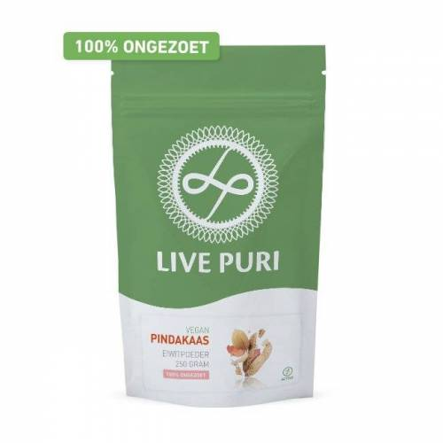 Live Puri Vegan Pindakaas Ongezoet Eiwitpoeder