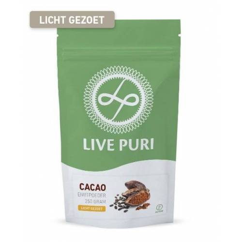 Live Puri Cacao Licht Gezoet Eiwitpoeder