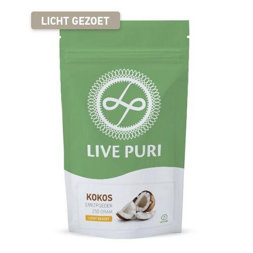 Live Puri Kokos Licht Gezoet Eiwitpoeder