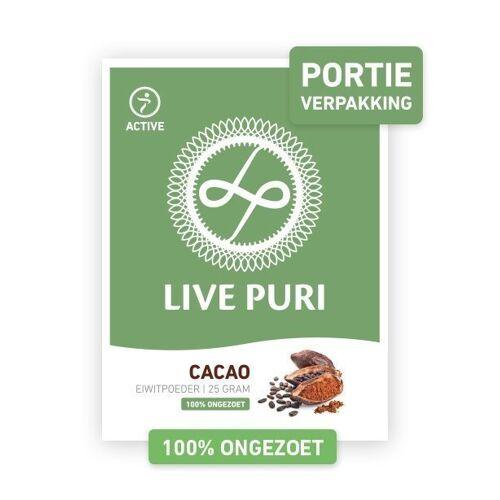 Live Puri Cacao Ongezoet Eiwitpoeder (portieverpakking)