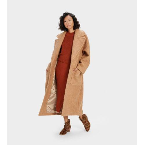 UGG Hattie Long Oversized Coat Camel Accessoires overige-accessoires