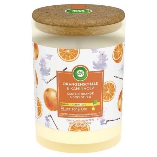 Air Wick Sinaasappelschil & Brandhout - Geurkaars 185 Gram