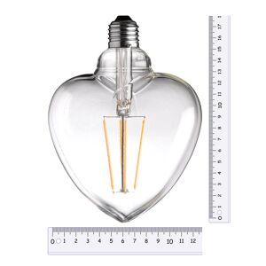 Wofi Hart LED lamp 4W 300 lumen E27 1800K warm kaarslicht kleur 18 cm hoog