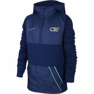 Nike CR7 Dry Repellent Drill Hoodie Kids Blue Void  - Donkerblauw - Size: 116