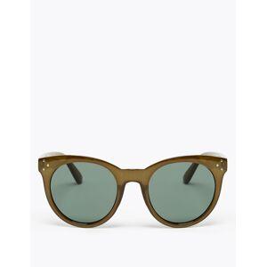 Marks & Spencer Preppy zonnebril met rond montuur Moss One Size